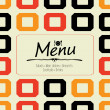 Stock Vector: Restaurant Menu Card Design template
