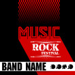 Music rock festival design template — Stock Vector