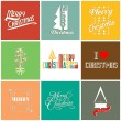 Merry Christmas greeting card — Vector de stock #37388309