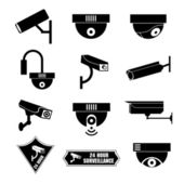 Video surveillance, cctv icon, vector illustration — Stock Vector