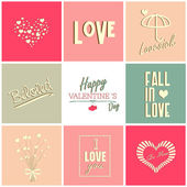 Valentines day card and typography elements — Stock Vector