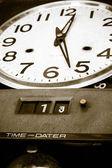 Vintage zegar stawić czoło — Zdjęcie stockowe