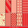 Stock Vector: Valentine patterns collection set for making seamless wallpapers