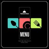 Restaurant Menu Card Design template — Stock Vector