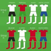 Soccer players uniform, Vector illustration — Stock Vector
