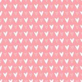 心とのシームレスなパターン。バレンタインデーの背景。ベクトル イラスト — ストックベクタ