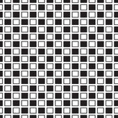 Square seamless pattern black and white — Stock Vector