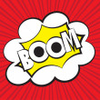 Boom comic, Vector illustration comic style — Stock Vector