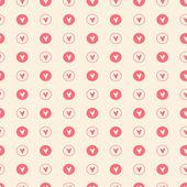 Padrão sem emenda com corações. plano de fundo dia dos namorados. ilustração vetorial — Vetorial Stock