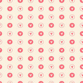 Seamless pattern with hearts. Valentines day background. Vector illustration — Stok Vektör