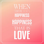 When someone else's happiness is your happiness, that is love, Q — Stock Vector