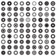 Collection of gear wheels isolated on white background — Stock Vector #41931651