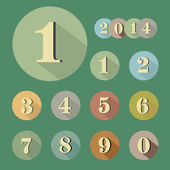 Vintage retro numbers. Vector illustration — Stock Vector