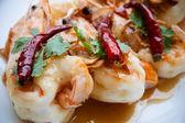 Profunda camarones fritos con salsa de Tamarindo — Foto de Stock