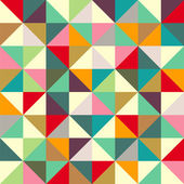 Color triangle seamless pattern — Stock Vector