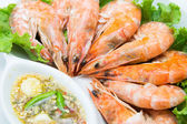 Steamed shrimp  — Stock fotografie