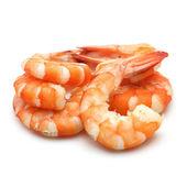 Shrimp isolated on white background — Stock Photo