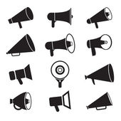 Megaphone icons — Stock Vector