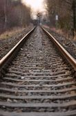 Railway into the distance — Foto de Stock