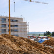 Crane on a construction site houses — Stock Photo