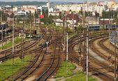 Large railway station — Stock Photo