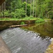 A view from a small bridge — Stock Photo