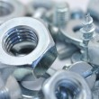 Nuts, bolts and washers — Stock Photo