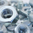 Stock Photo: Nuts, bolts and washers