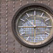 The clock on the church — Stock Photo
