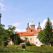 Petrin Tower in Prague park — Stock Photo