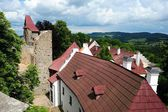 Roofs under the castle — Stockfoto