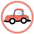 Stock Photo: Stop car sign, vector