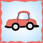 Couleur de la voiture, rouge dans le style ancien — Photo