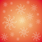 Seamless pattern with snowflakes on a red backgraund — Stock Photo