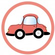 Stop car sign, vector — Stock Vector