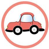 Auto segnale di stop, vettoriale — Vettoriale Stock