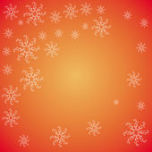 Christmas snowflakes on red background — Stock Vector