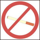 Symbol zákaz kouření — Stockvektor