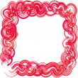 Stock Photo: Frame in white and pink colors