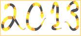 Snake 2013 background — Stock Photo