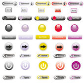 Web Elements Vector Button Set — Stockfoto