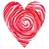 Heart in a red circles — Stock Photo