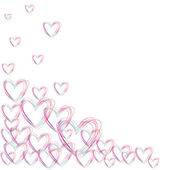 Color hearts flying on a white back, love — Stock Photo