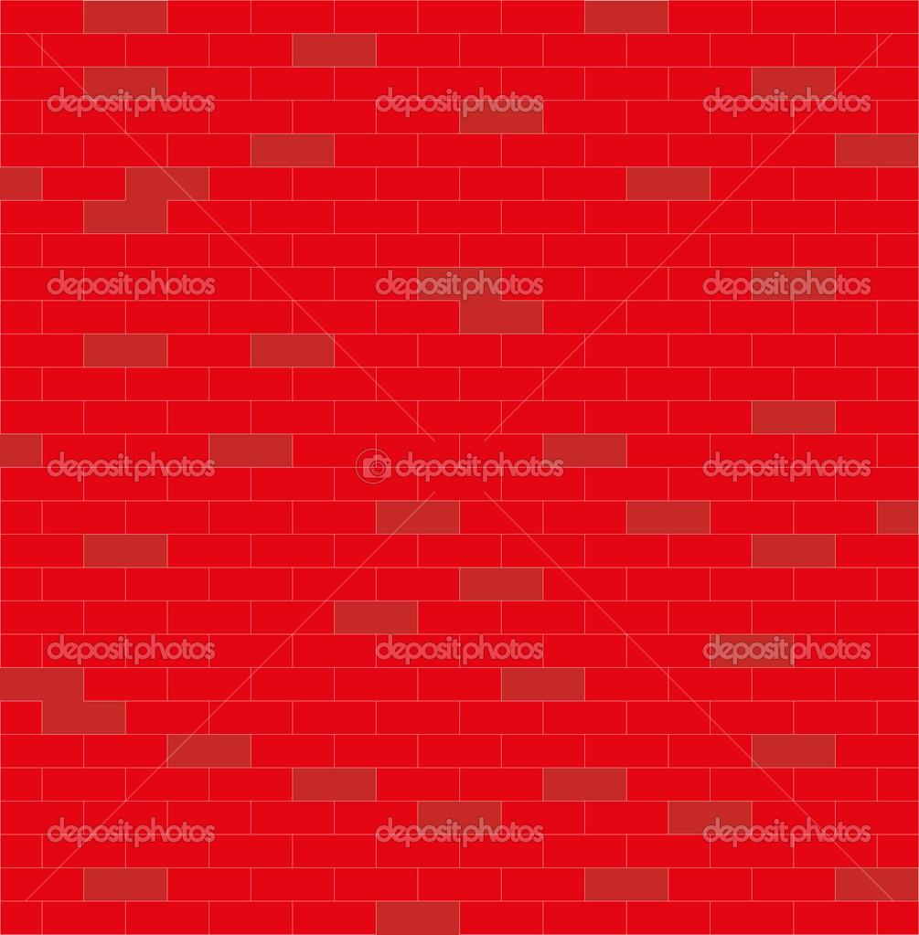 墙体, 红色和白色,砖,矢量图 — 照片作者 tseliuba