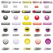 Web Elements Vector Button Set — Stock Vector