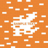 Wall, brown, brick - with place for text — Stock Vector
