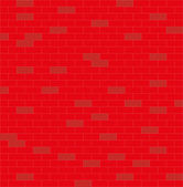 Wall, red and white, brick — Stok Vektör