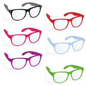 Glasses in business style — Stock Vector