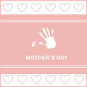 Gift card on mother — Stock Vector