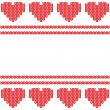 Knitted heart. Valentines day card — Stock Photo
